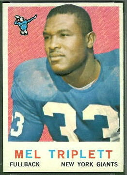 Mel Triplett 1959 Topps football card