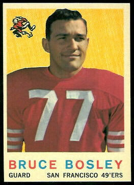 Bruce Bosley 1959 Topps football card