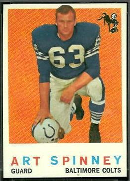 Art Spinney 1959 Topps football card