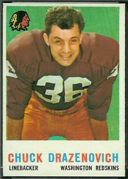Chuck Drazenovich 1959 Topps football card