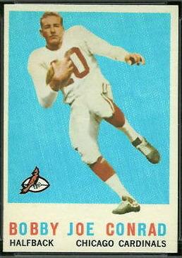 Bobby Joe Conrad 1959 Topps football card