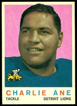 Charlie Ane 1959 Topps football card