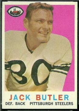 Jack Butler 1959 Topps football card