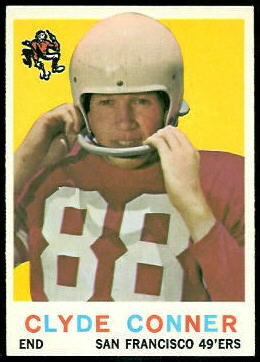 Clyde Conner 1959 Topps football card