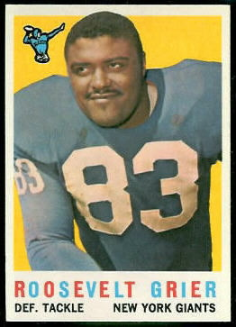Roosevelt Grier 1959 Topps football card