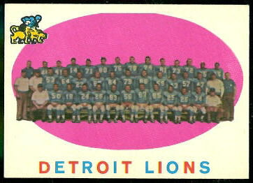 Detroit Lions Team 1959 Topps football card