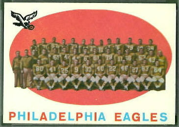 Philadelphia Eagles Team 1959 Topps football card