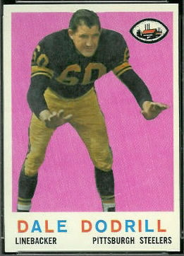 Dale Dodrill 1959 Topps football card