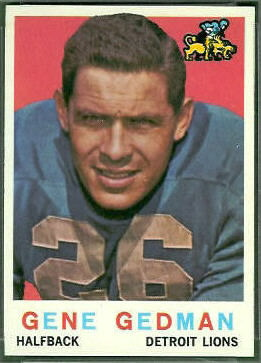 Gene Gedman 1959 Topps football card
