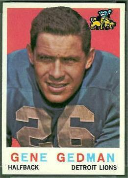 Gene Gedman 1959 Topps football card