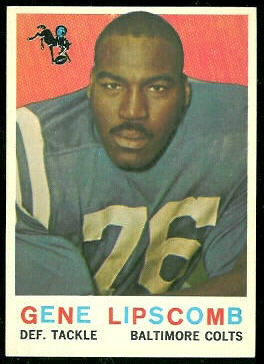 Gene Lipscomb 1959 Topps football card