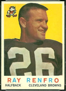 Ray Renfro 1959 Topps football card