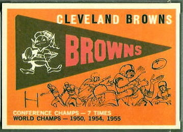 Browns Pennant 1959 Topps football card