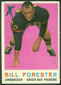 Bill Forester 1959 Topps football card