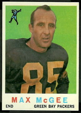 Max McGee 1959 Topps football card