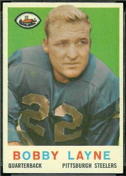 Bobby Layne 1959 Topps football card