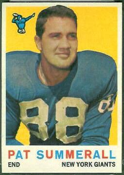 Pat Summerall 1959 Topps football card