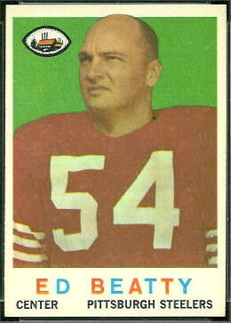 Ed Beatty 1959 Topps football card