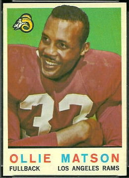 Ollie Matson 1959 Topps football card