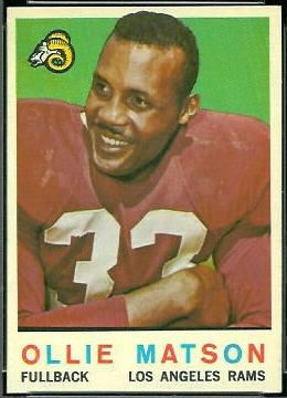 Ollie Matson 1959 Topps football card