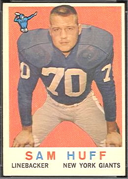Sam Huff 1959 Topps football card