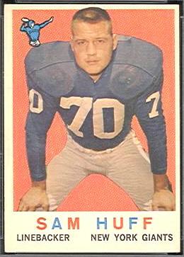 Sam Huff 1959 Topps football card