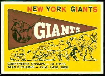 Giants Pennant 1959 Topps football card