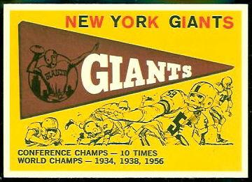 Giants Pennant 1959 Topps football card