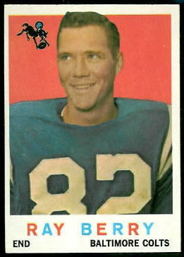 Raymond Berry 1959 Topps football card
