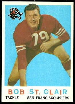 Bob St. Clair 1959 Topps football card