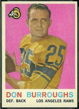 Don Burroughs 1959 Topps football card