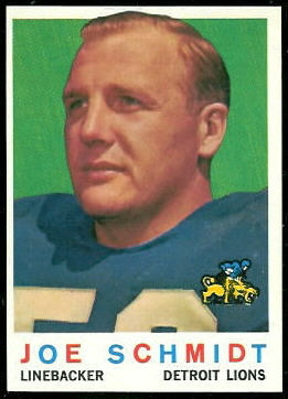 Joe Schmidt 1959 Topps football card