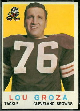 Lou Groza 1959 Topps football card