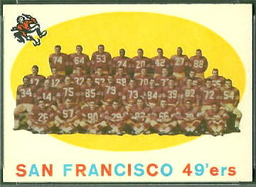 San Francisco 49ers Team 1959 Topps football card