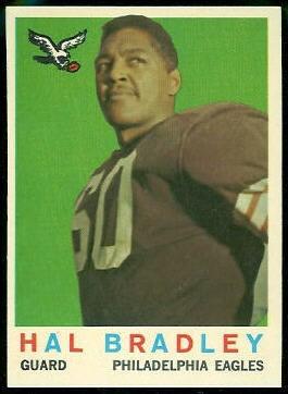 Hal Bradley 1959 Topps football card