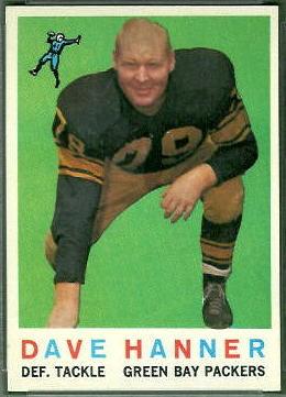 Dave Hanner 1959 Topps football card