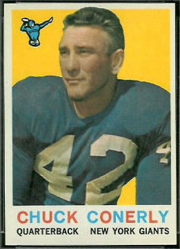 Charley Conerly 1959 Topps football card