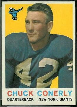 Charley Conerly 1959 Topps football card