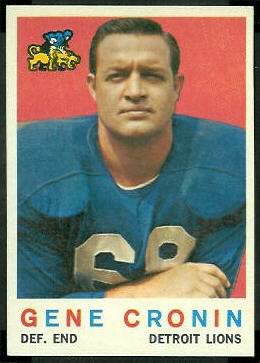 Gene Cronin 1959 Topps football card