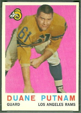 Duane Putnam 1959 Topps football card