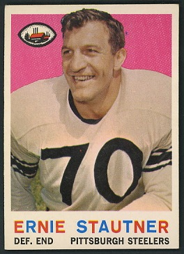 Ernie Stautner 1959 Topps football card
