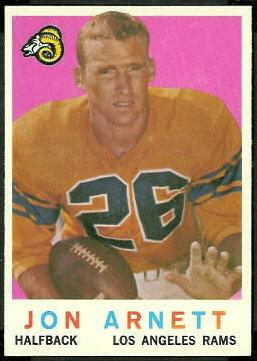 Jon Arnett 1959 Topps football card