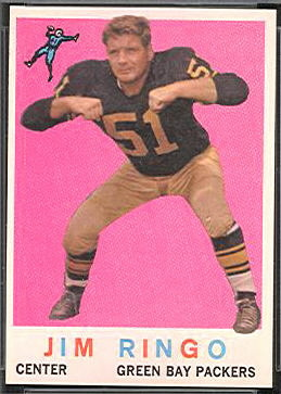 Jim Ringo 1959 Topps football card