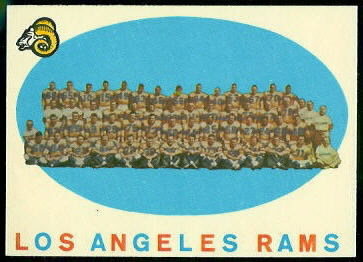 Los Angeles Rams Team 1959 Topps football card