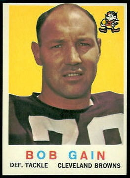 Bob Gain 1959 Topps football card