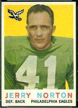 Jerry Norton 1959 Topps football card