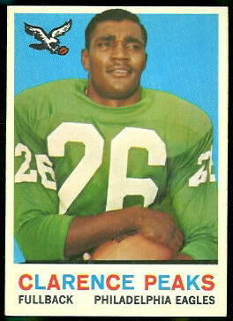 Clarence Peaks 1959 Topps football card