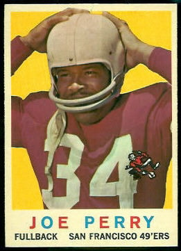 Joe Perry 1959 Topps football card
