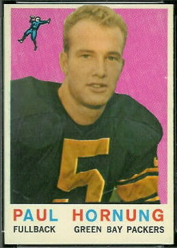 Paul Hornung 1959 Topps football card