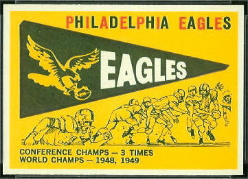 Eagles Pennant 1959 Topps football card